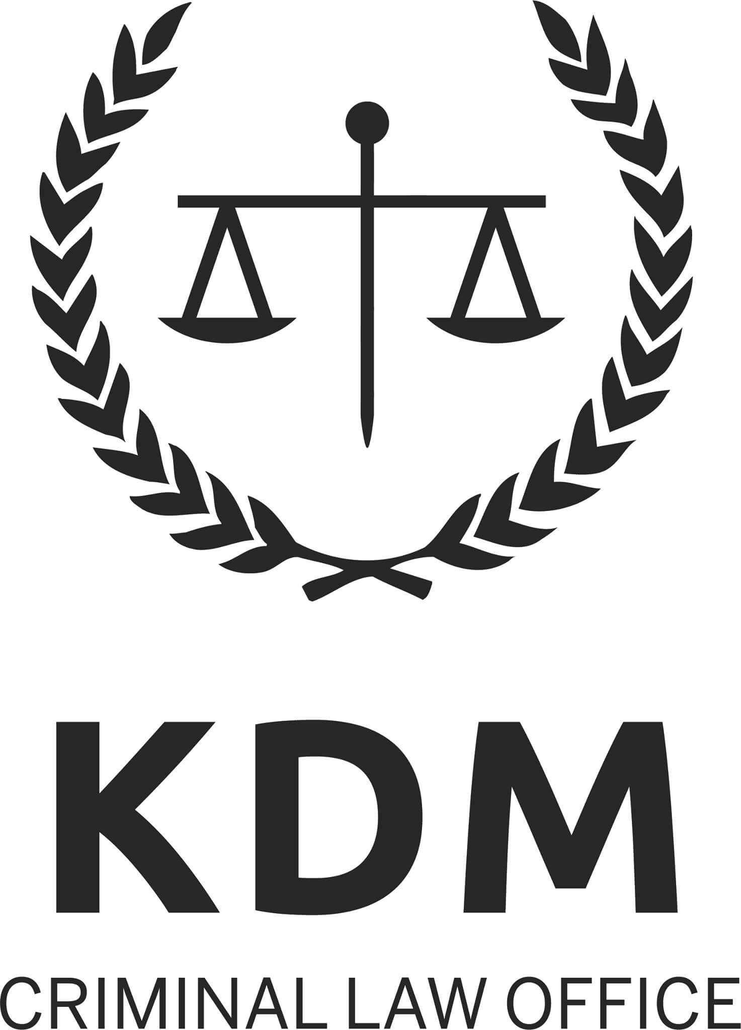 Kdm criminal law office logo 2018 the criminal lawyers for Office logo